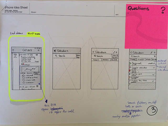 Sketching and wireframing